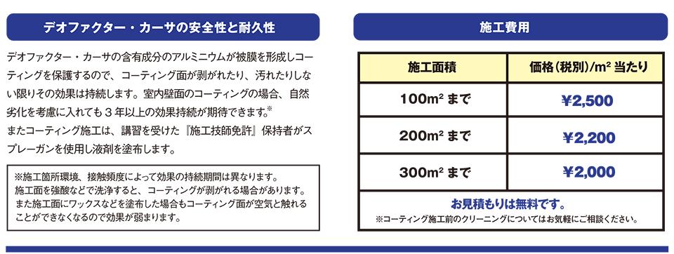 デオファクター・カーサの安全性と耐久性 施工費用